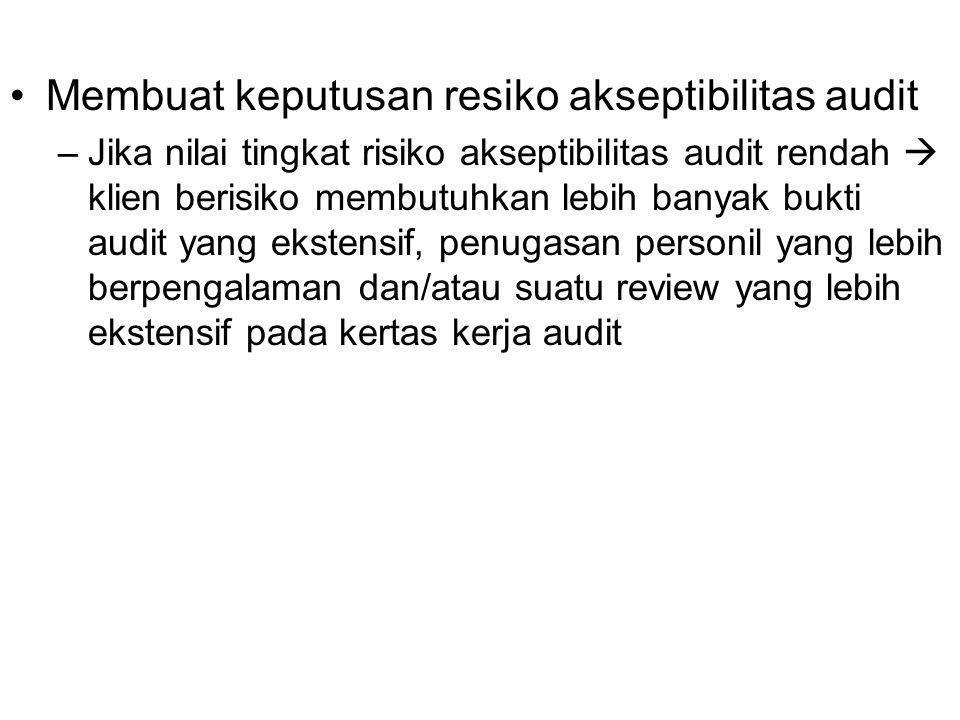 Membuat keputusan resiko akseptibilitas audit