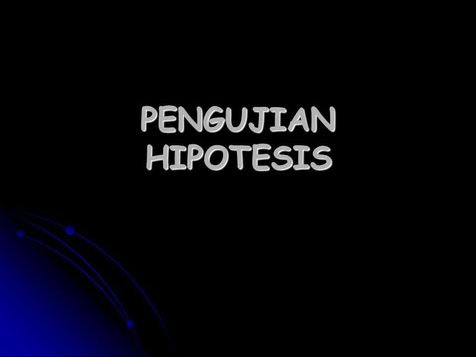 PENGUJIAN HIPOTESIS
