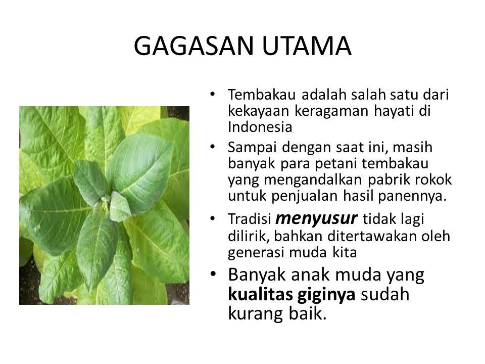 GAGASAN UTAMA Tembakau adalah salah satu dari kekayaan keragaman hayati di Indonesia.