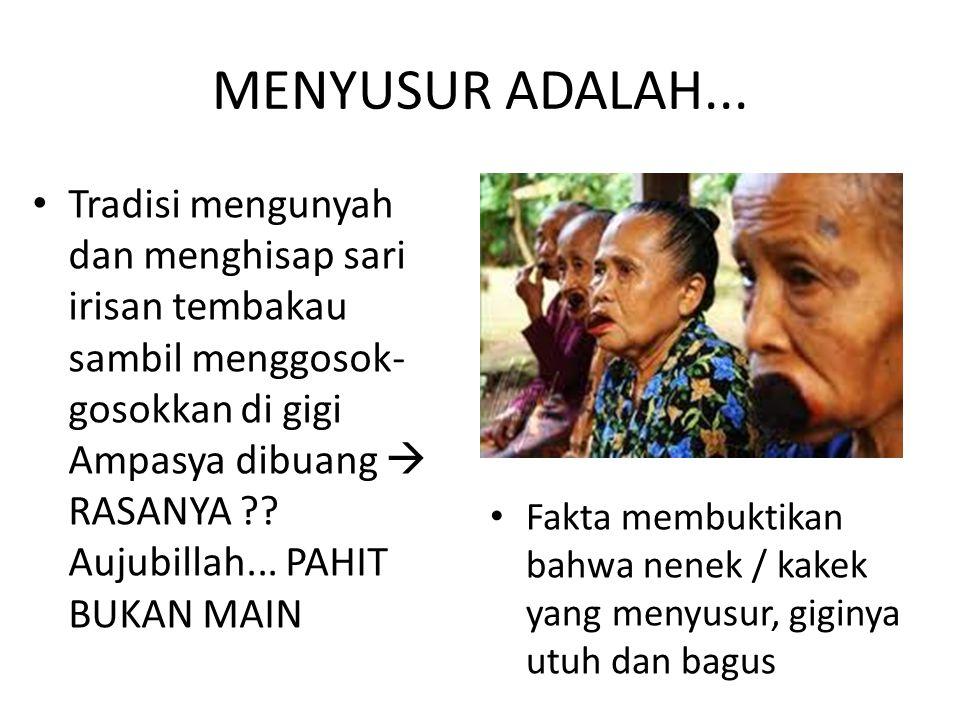 MENYUSUR ADALAH...