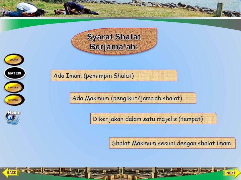 Syarat Shalat Berjama'ah: