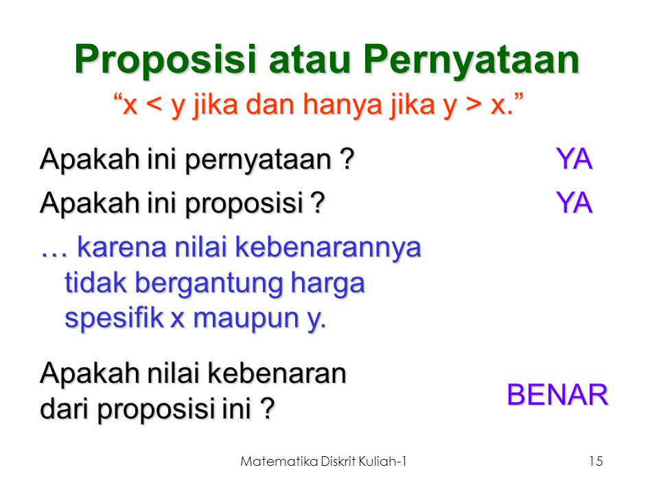 Proposisi atau Pernyataan
