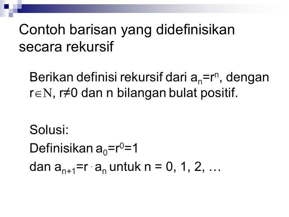 Contoh barisan yang didefinisikan secara rekursif