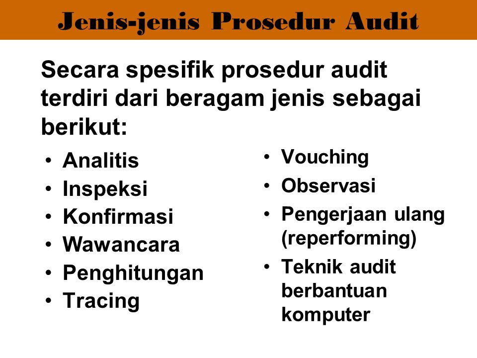 Jenis-jenis Prosedur Audit