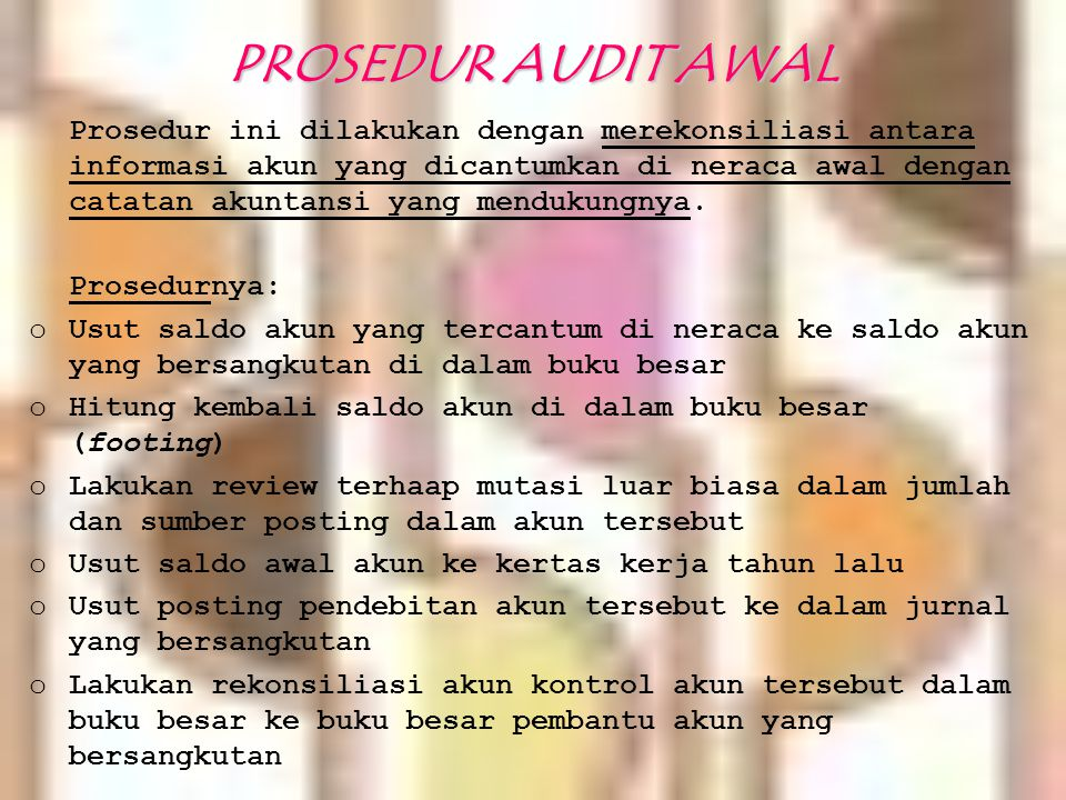 PROSEDUR AUDIT AWAL
