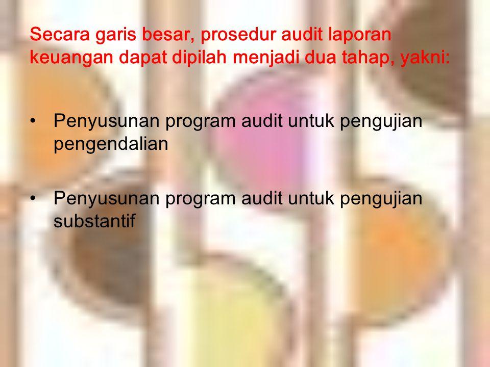Secara garis besar, prosedur audit laporan keuangan dapat dipilah menjadi dua tahap, yakni: