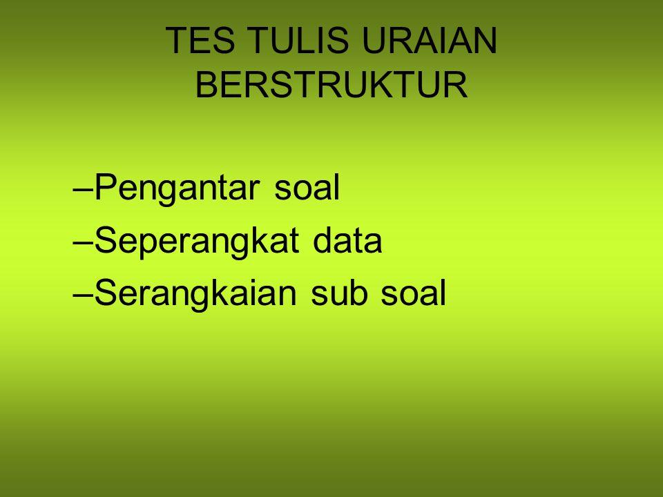 TES TULIS URAIAN BERSTRUKTUR