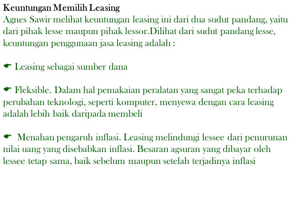 Keuntungan Memilih Leasing