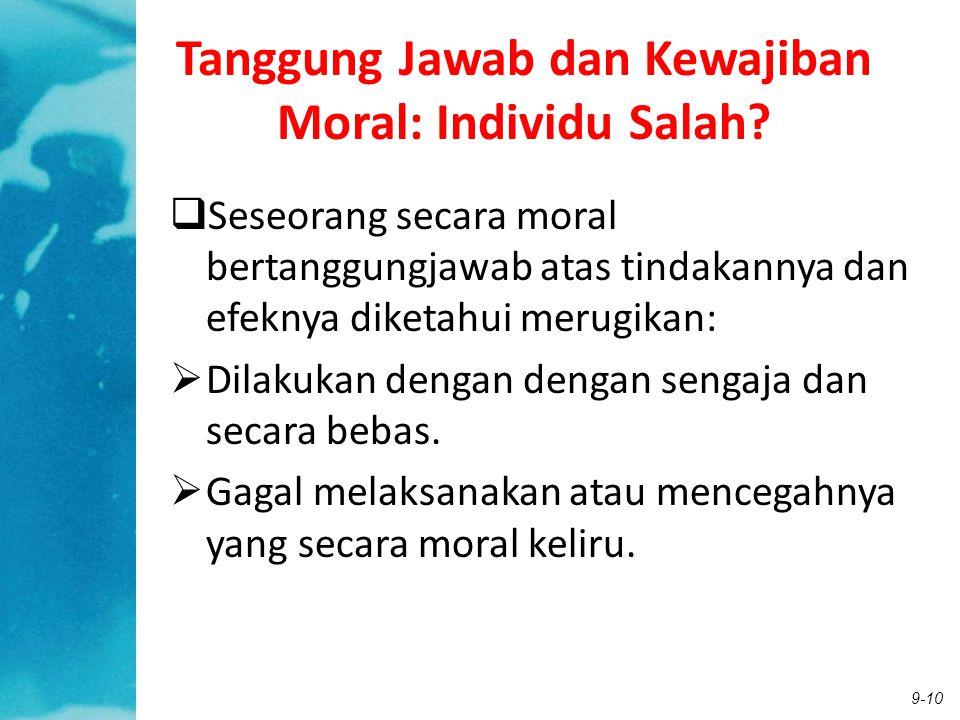 Tanggung Jawab dan Kewajiban Moral: Individu Salah