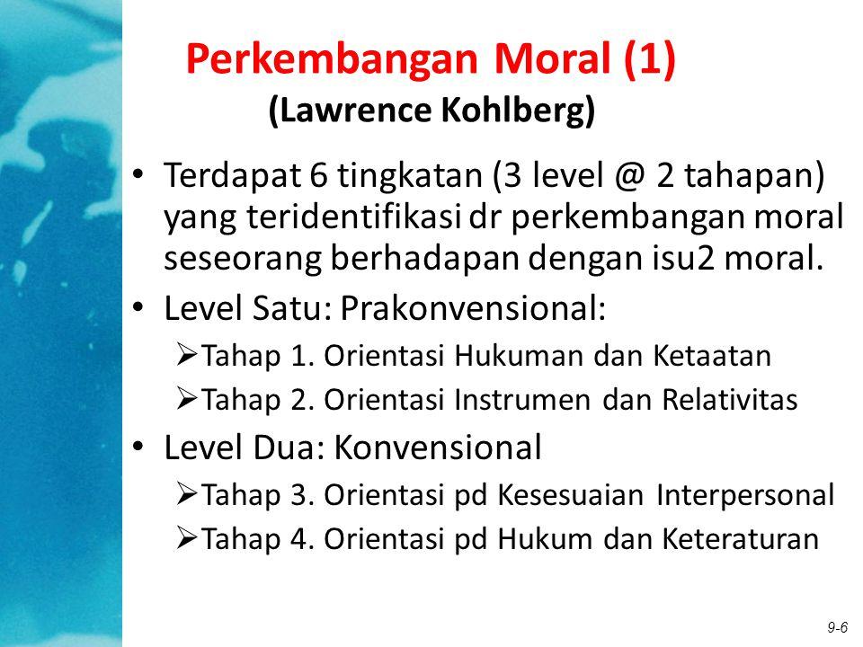Perkembangan Moral (1) (Lawrence Kohlberg)