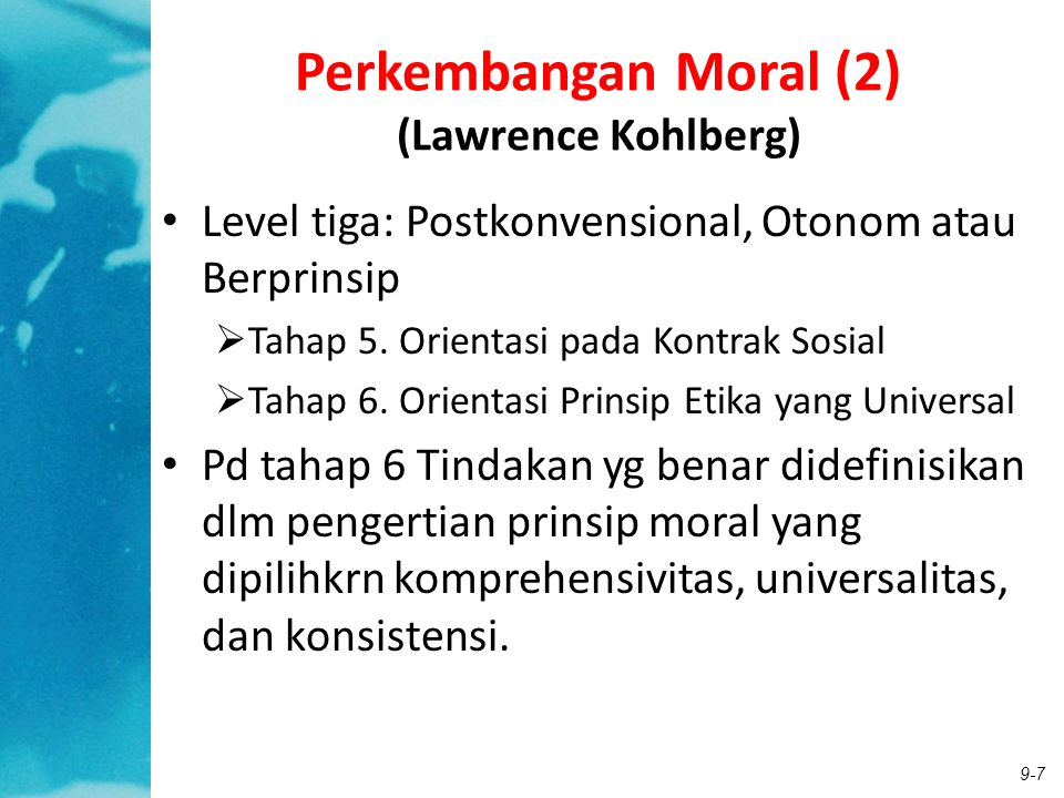 Perkembangan Moral (2) (Lawrence Kohlberg)