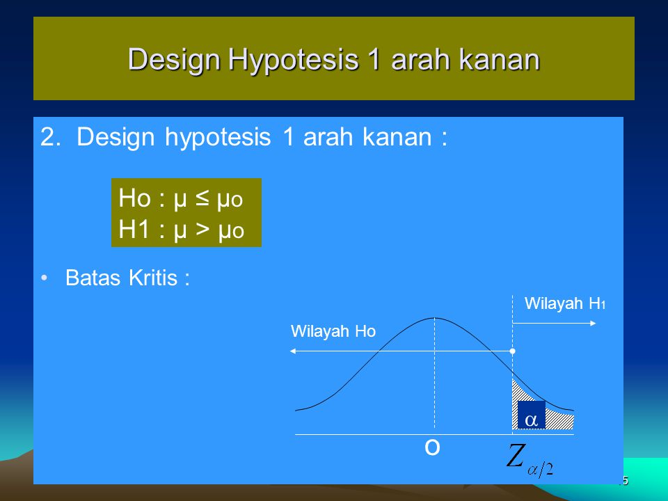 Design Hypotesis 1 arah kanan