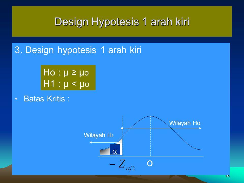 Design Hypotesis 1 arah kiri