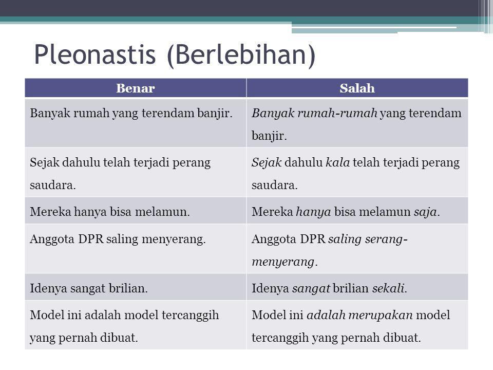 Pleonastis (Berlebihan)