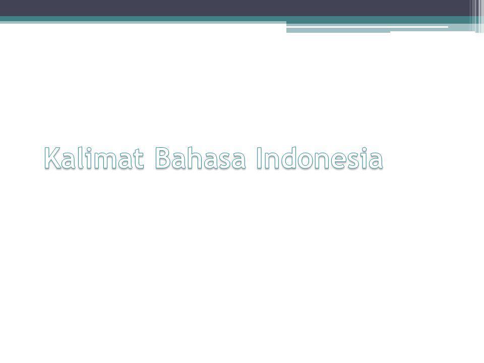 Kalimat Bahasa Indonesia