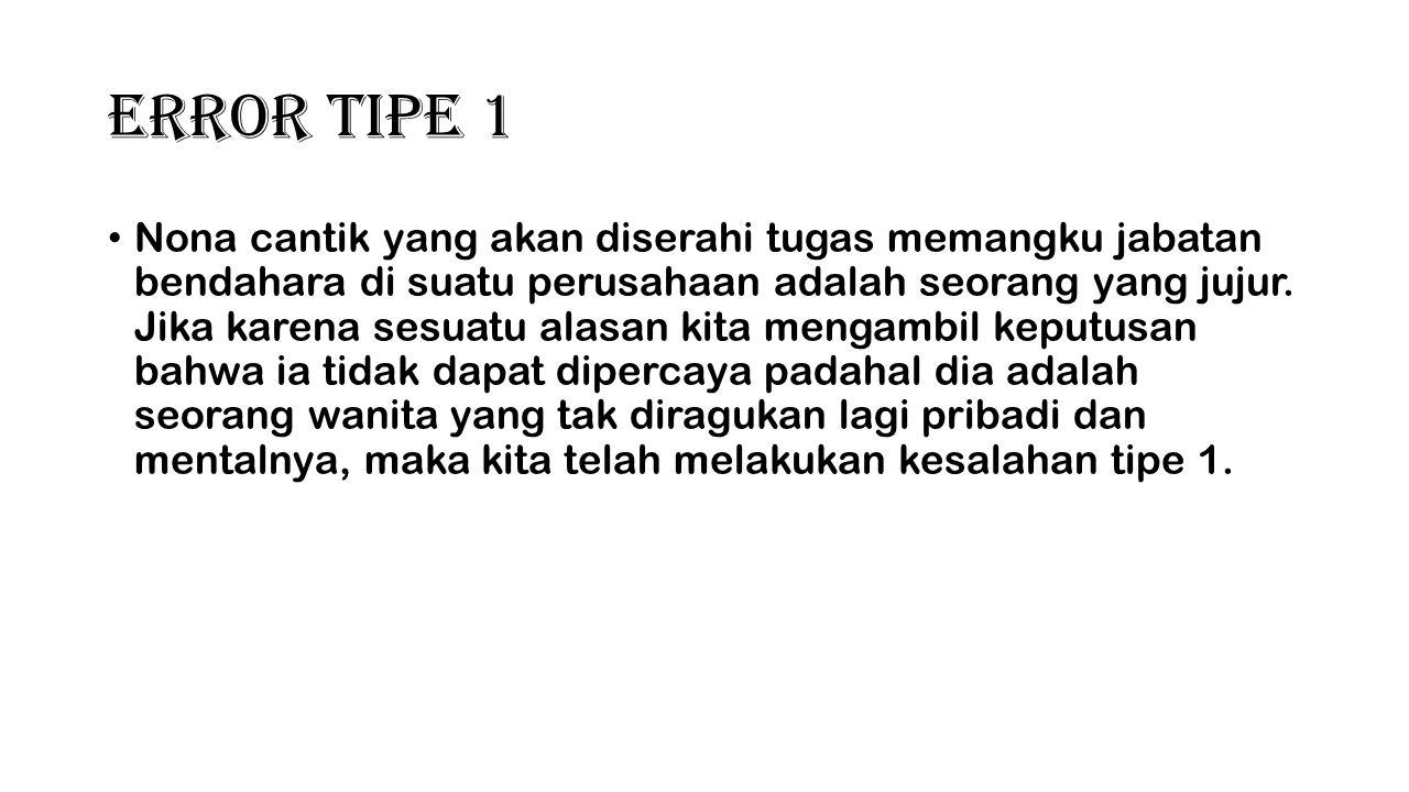 Error Tipe 1