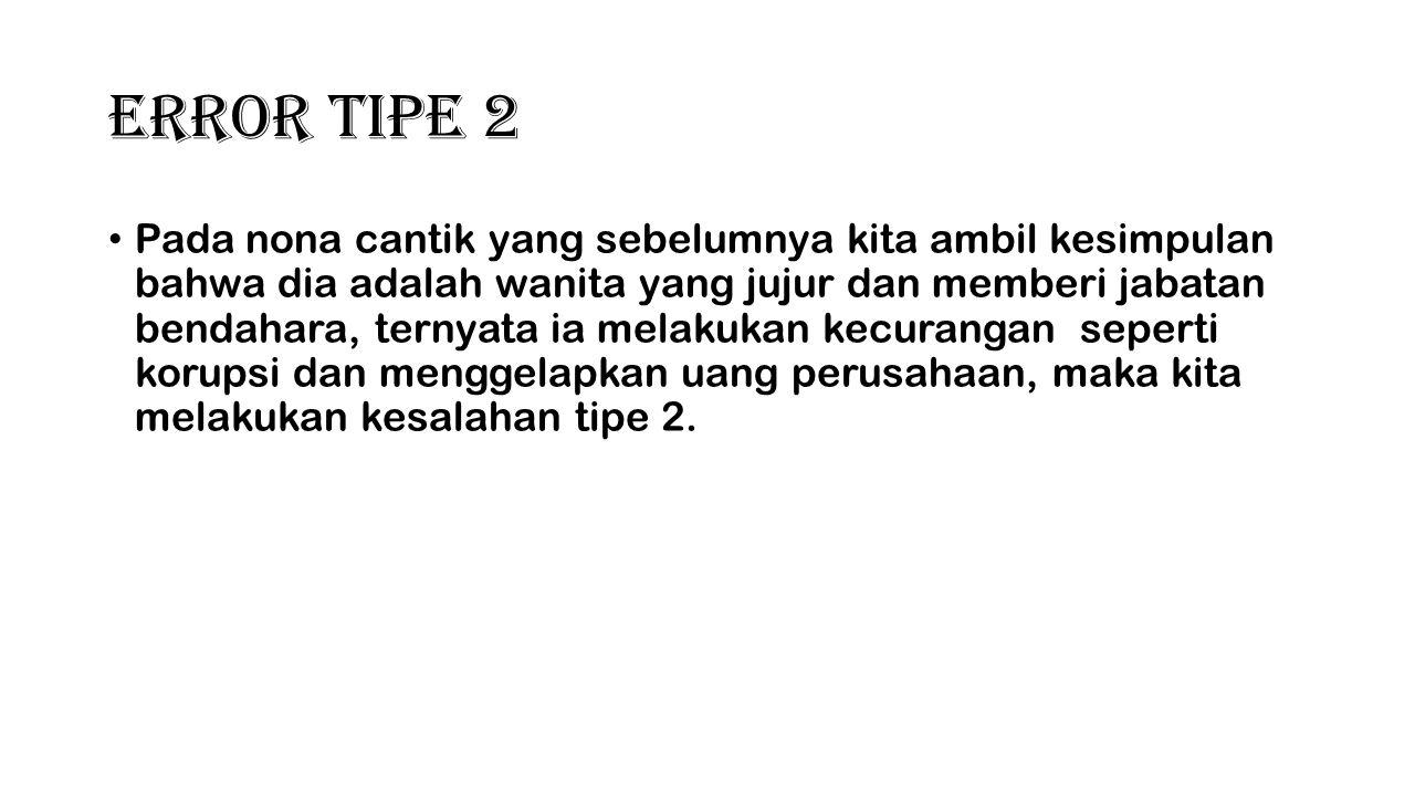 Error Tipe 2