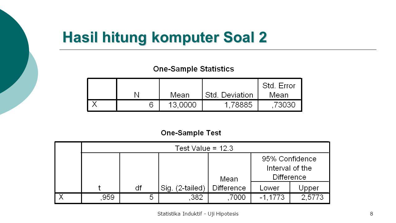Hasil hitung komputer Soal 2
