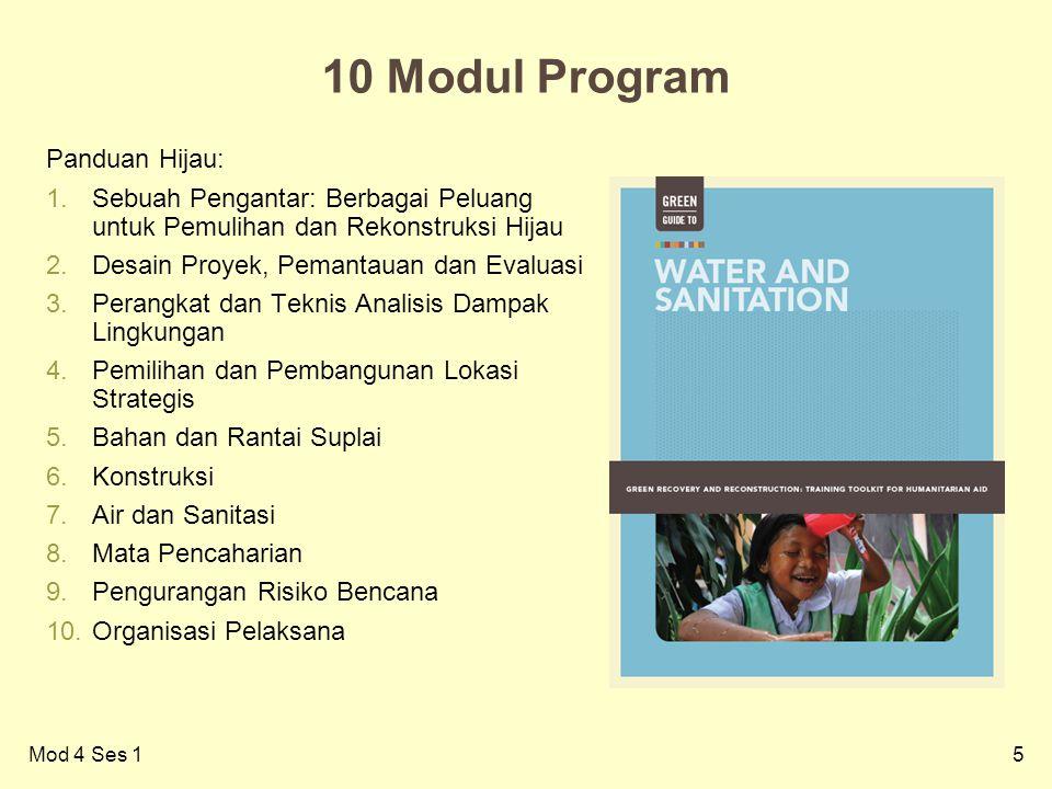 10 Modul Program Panduan Hijau:
