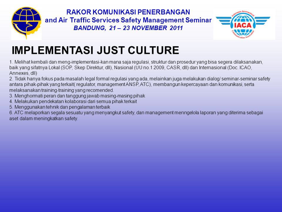 IMPLEMENTASI JUST CULTURE