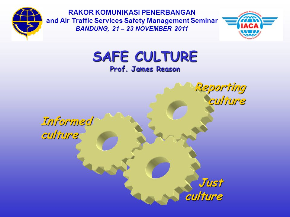 SAFE CULTURE Reporting culture Informed culture Just culture