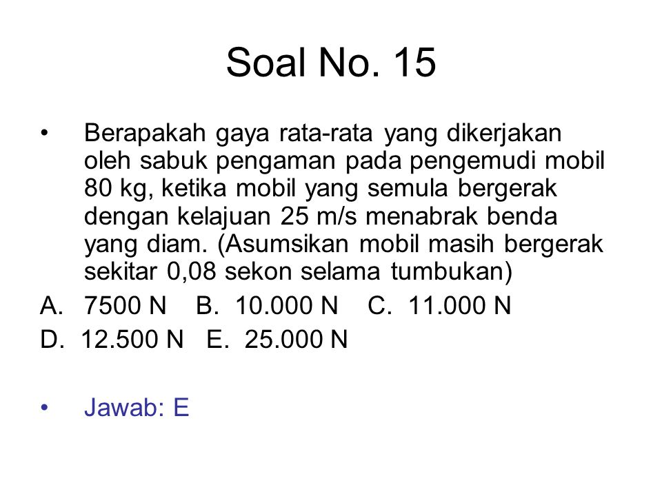 Soal No. 15