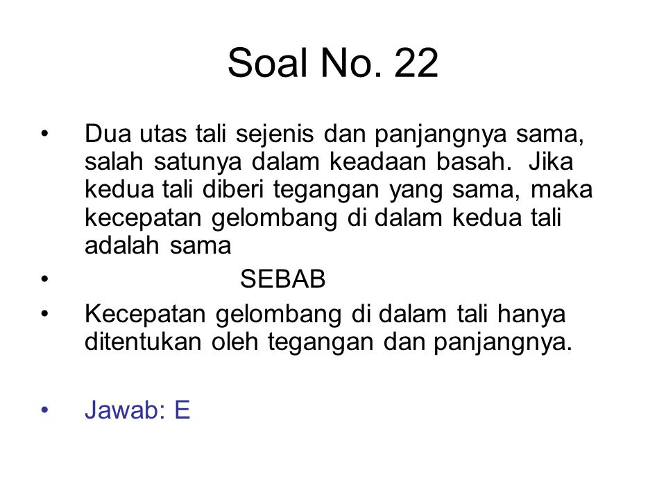 Soal No. 22