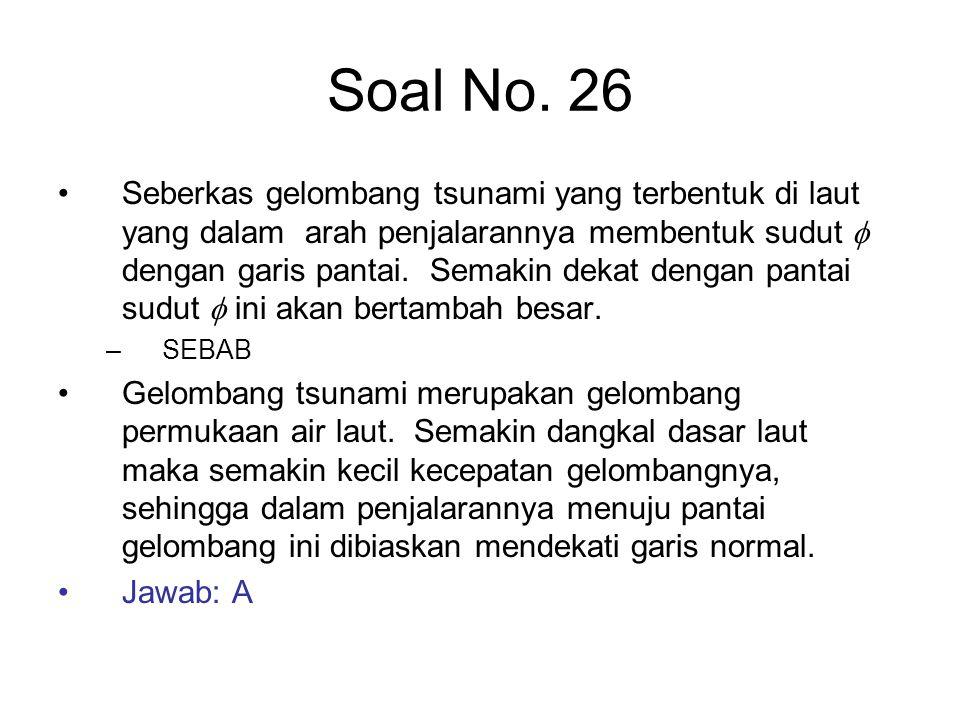 Soal No. 26