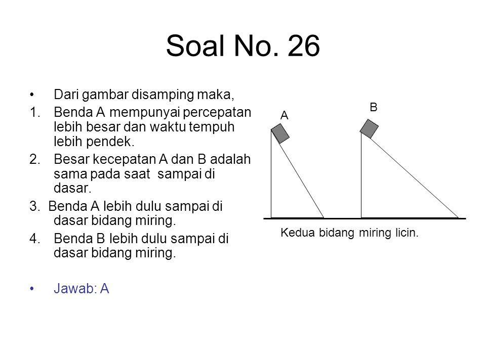 Soal No. 26 Dari gambar disamping maka,
