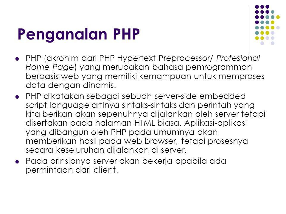 Penganalan PHP