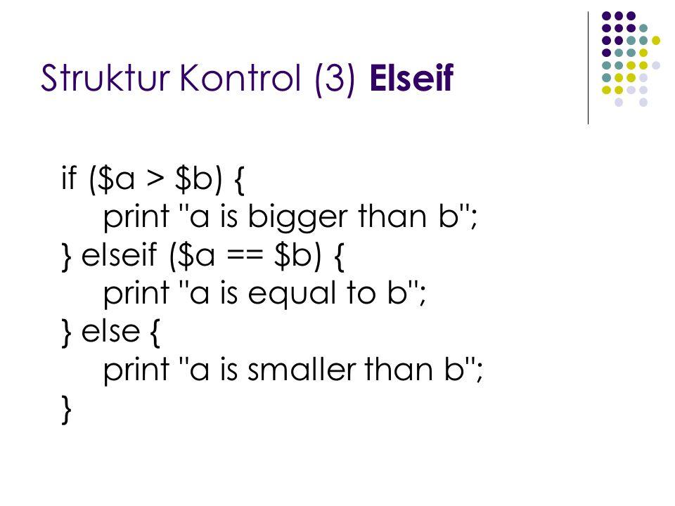 Struktur Kontrol (3) Elseif