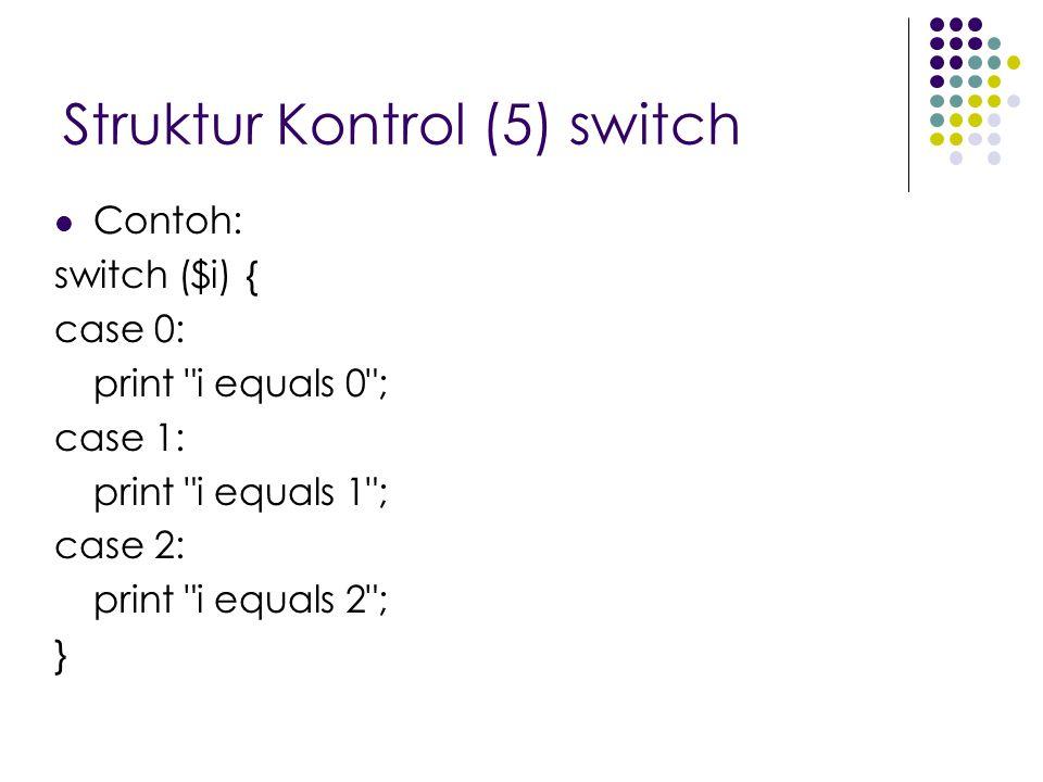 Struktur Kontrol (5) switch