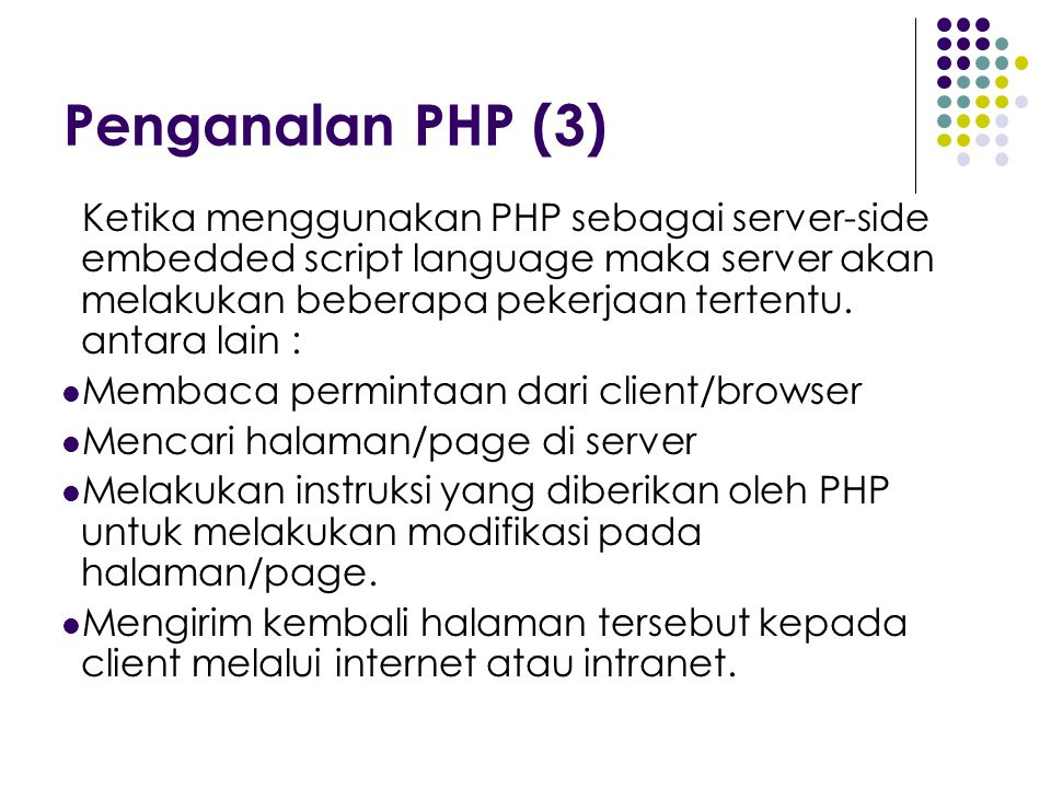 Penganalan PHP (3)