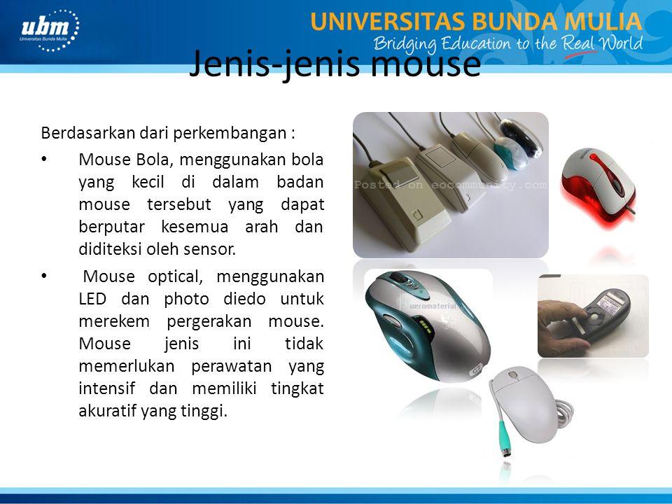 Jenis-jenis mouse Berdasarkan dari perkembangan :