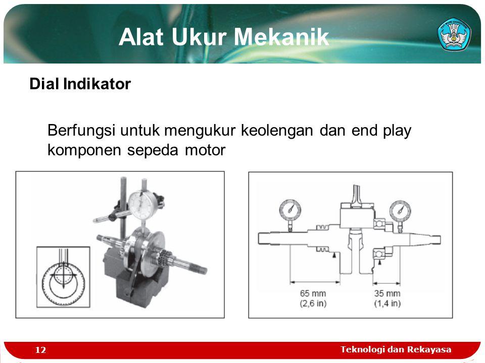 Alat Ukur Mekanik Dial Indikator