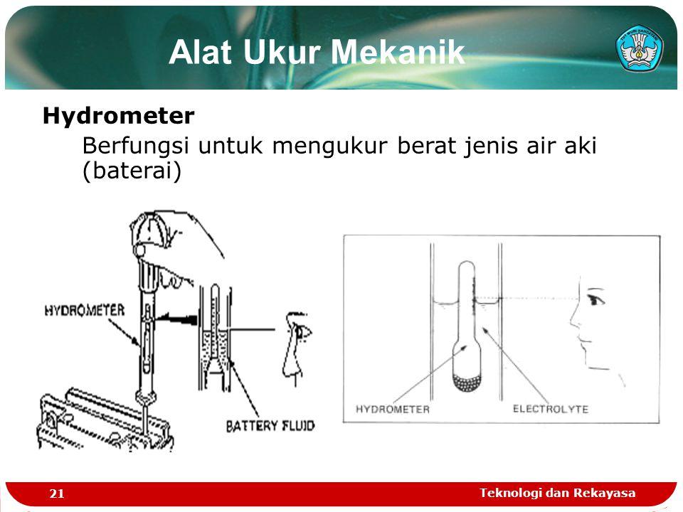 Alat Ukur Mekanik Hydrometer