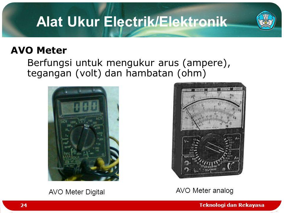 Alat Ukur Electrik/Elektronik