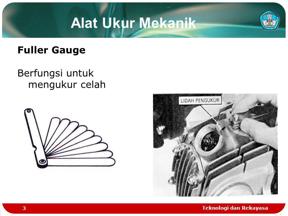 Alat Ukur Mekanik Fuller Gauge Berfungsi untuk mengukur celah