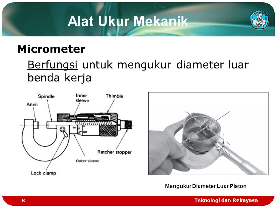 Mengukur Diameter Luar Piston