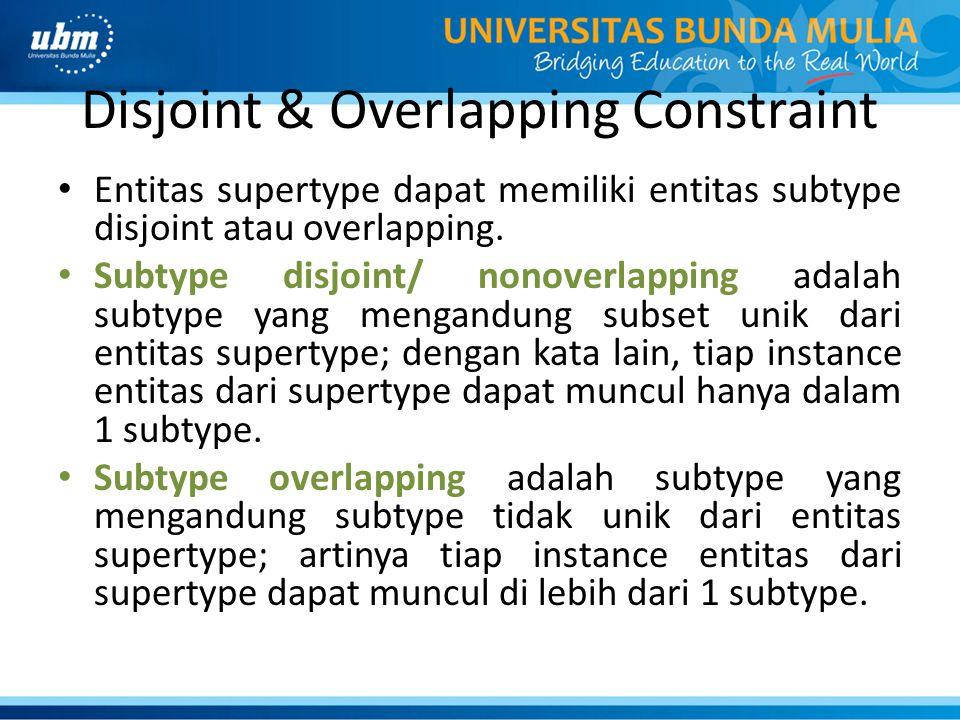 Disjoint & Overlapping Constraint