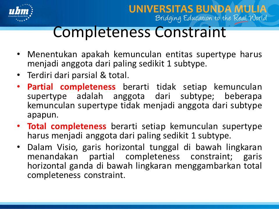 Completeness Constraint