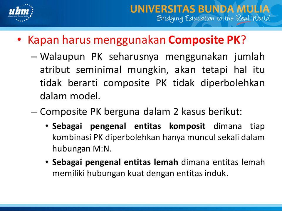 Kapan harus menggunakan Composite PK