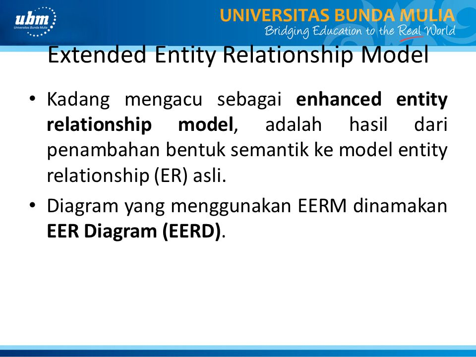 Extended Entity Relationship Model