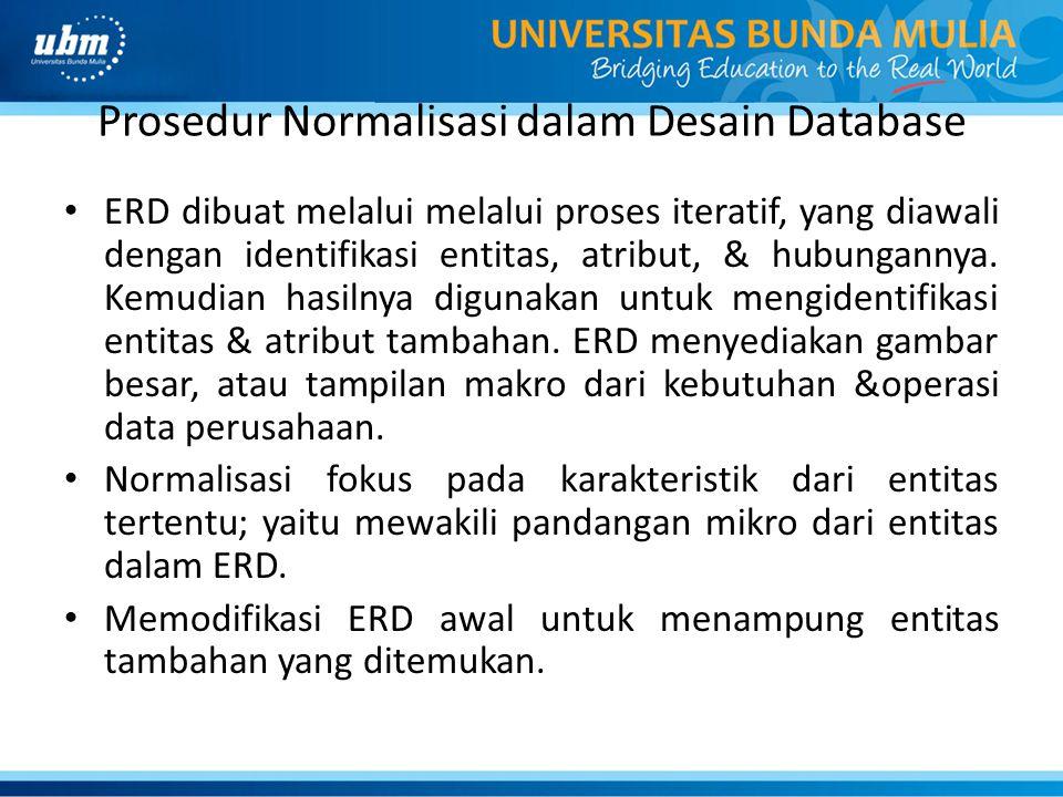 Prosedur Normalisasi dalam Desain Database
