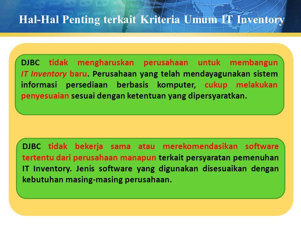 Hal-Hal Penting terkait Kriteria Umum IT Inventory