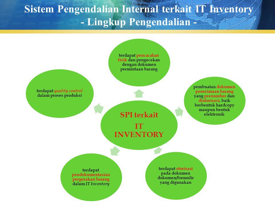 Sistem Pengendalian Internal terkait IT Inventory - Lingkup Pengendalian -