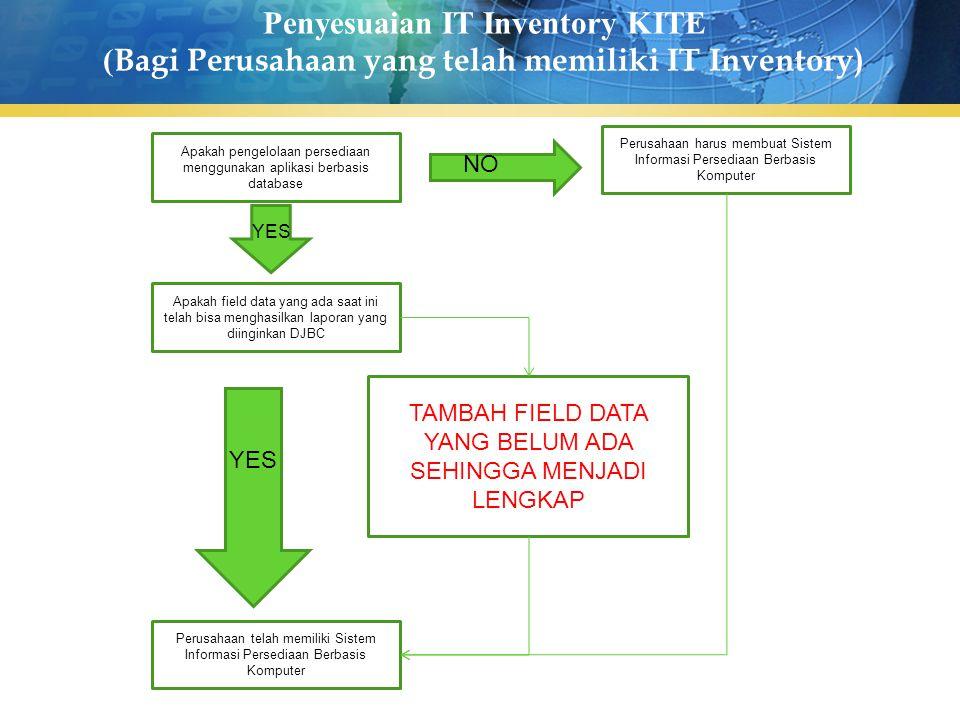 Penyesuaian IT Inventory KITE (Bagi Perusahaan yang telah memiliki IT Inventory)