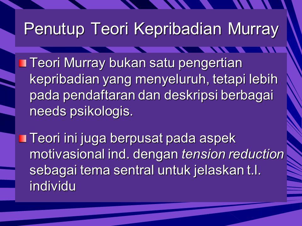 Penutup Teori Kepribadian Murray