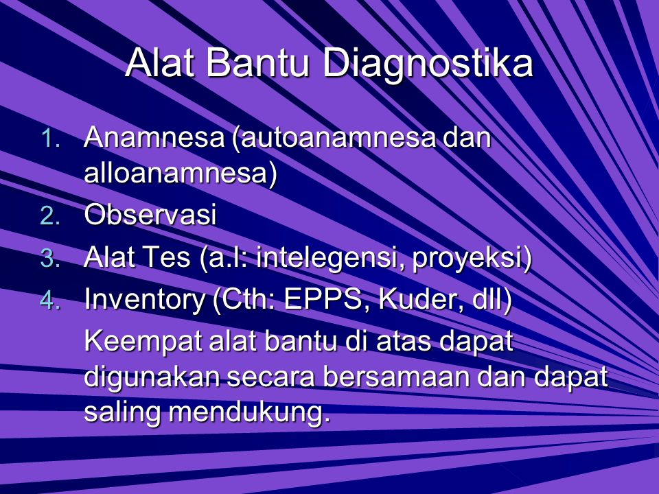 Alat Bantu Diagnostika