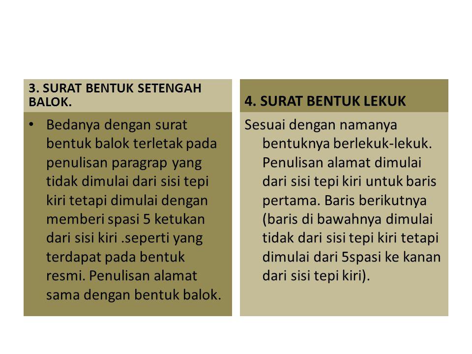 3. SURAT BENTUK SETENGAH BALOK.